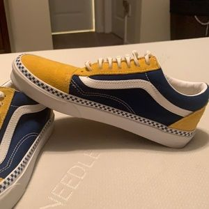 Vans sneakers. Worn maybe 3-4x before my son outgrew them.